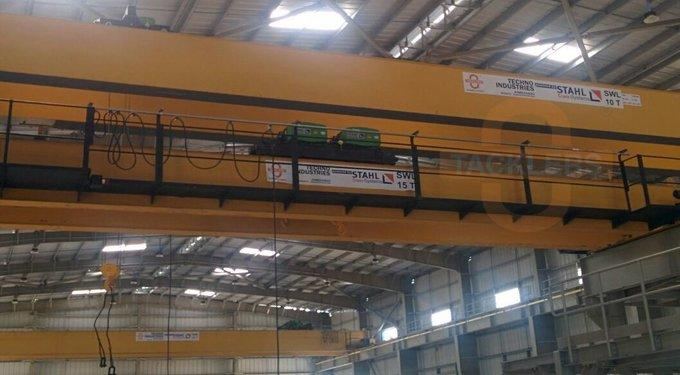 10 Ton & 15 Ton Industrial Double Girder Overhead Travelling Cranes