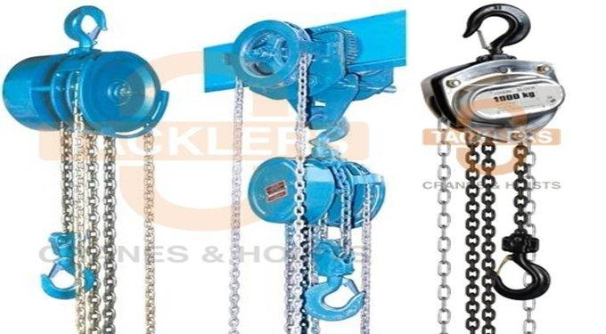 Chain Pulley Blocks, Manual Pulley Blocks